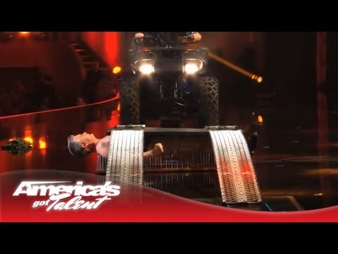 brad - Brad Byers stops a giant high-speed fan with his tongue, and then lays on a bed of nails while a four-wheeler drives over him. See his extreme variety act! S...