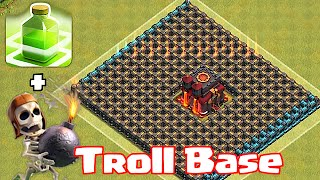 """Video Clash Of Clans """"CHAMP TROLL BASE"""" (Wallbreakers and jump spells) MP3, 3GP, MP4, WEBM, AVI, FLV Mei 2017"""