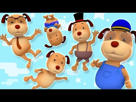 Five Little Dogs | Kindergarten Nursery Rhymes For Children by Farmees