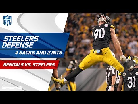 Video: Pittsburgh's Defense Comes Away w/ 4 Sacks & 2 INTs! | Bengals vs. Steelers | Wk 7 Player Highlights