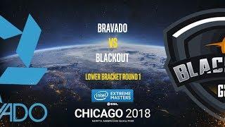 Bravado vs BlackOut - IEM Chicago 2018 NA Quals - map1 - de_nuke [Anishared]