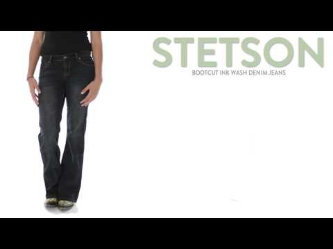 Stetson Bootcut Ink Wash Denim Jeans - Slim Fit, Low Rise (For Women)