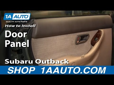 How To Install Replace Remove Rear Door Panel Subaru Outback 00-04 1AAuto.com