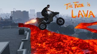 THE FLOOR IS LAVA IN GTA 5! (GTA 5 Challenges)SUBSCRIBE For more GTA 5 Videos: http://tiny.cc/RobbinRamsExclusive GTA 5 video on DareRising: https://www.youtube.com/watch?v=7Ekd78NFPOg&t=2sGTA 5 Easter Eggs, Mysteries And Secrets: https://www.youtube.com/watch?v=XAiTP...▬▬▬▬▬▬▬▬▬▬▬▬▬▬▬▬▬▬▬▬▬▬• Twitter: https://twitter.com/RobbinRams• Google+: https://plus.google.com/u/0/+RobbinRams2• Facebook: https://www.facebook.com/RobbinRamsYo...•  Instagram: https://instagram.com/robbin_rams/▬▬▬▬▬▬▬▬▬▬▬▬▬▬▬▬▬▬▬▬▬▬▬Thank you guys for all the support, Stay Awesome!