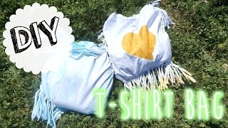 DIY ❤ Recycler un t-shirt en Sac I DIY Français - YouTube