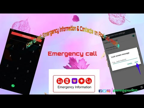 How to set Emergency information & Contacts on Android mobile in detail | Emergency call | 4K Video.