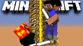 Minecraft Modded Minigame: LUCKY BLOCK KING OF THE LADDAR! - w/Preston&Friends!