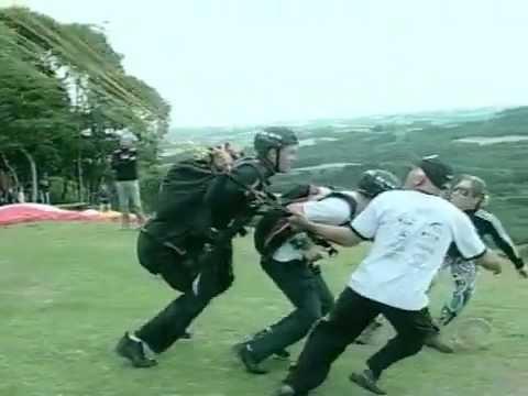 Equipe do Globo Esporte voa alto em Viadutos, no norte do RS