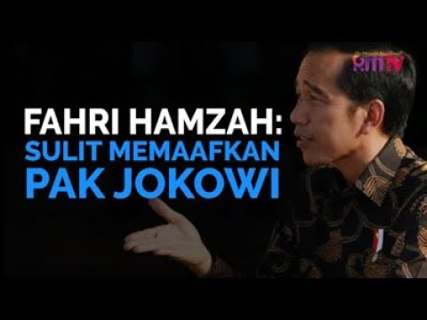 Fahri Hamzah: Sulit Memaafkan Pak Jokowi