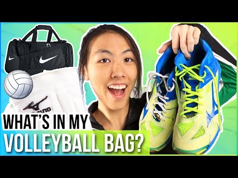 WHAT'S IN MY VOLLEYBALL BAG 2017: Sports Bag Edition!⚽🏀🎾   Katie Tracy