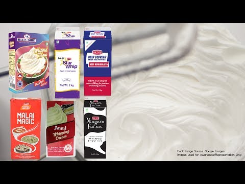 Whipping Creams Brands In India | How To Make Whipped Cream Recipe From Powder At Home