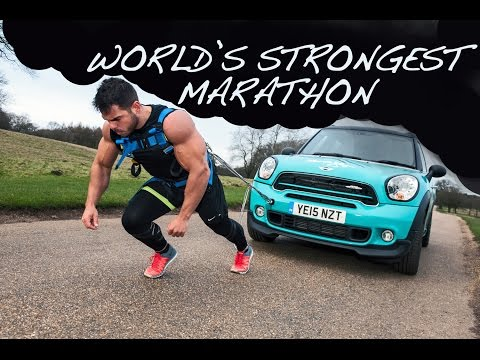 World's Strongest Marathon: 1.4 Tonne MINI + 26.2 Miles (видео)