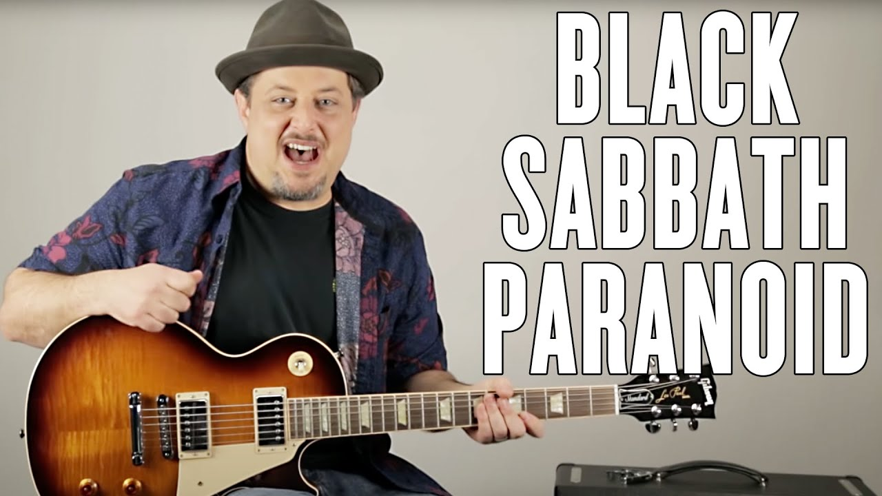 """How to Play """"Paranoid"""" by Black Sabbath on Guitar – Guitar Lesson – Ozzy – Metal"""