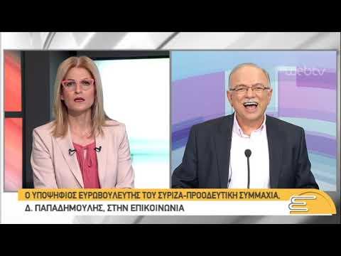 Ο υποψήφιος Ευρωβουλευτής ΣΥ.ΡΙΖ.Α, Δ.Παπαδημούλης, στην ΕΡΤ  | 24/05/2019 | ΕΡΤ