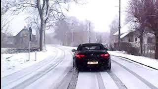 Uciekał przed policją kradzionym BMW M6 na letnich oponach! Przegrał z zimą :D