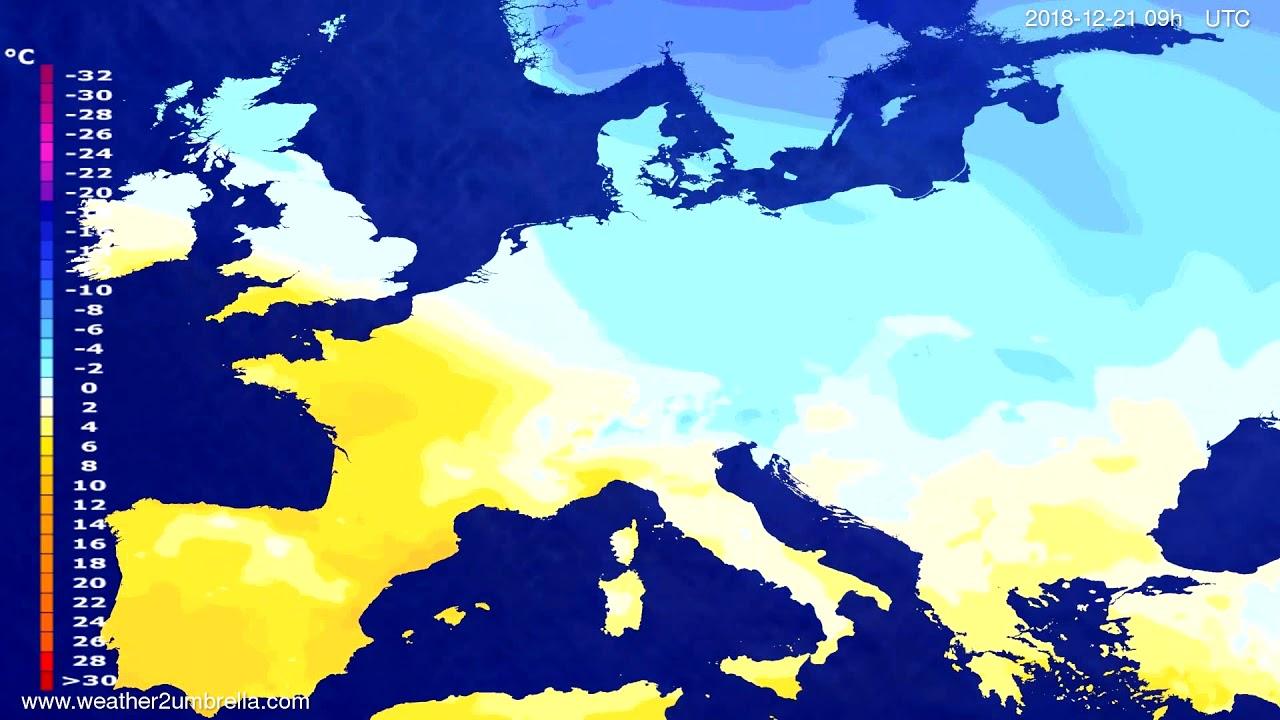 Temperature forecast Europe 2018-12-17