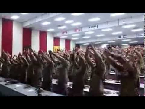 days - America's wonderful men and women in uniform participating in worship, lifting their voices to Almighty God as they sing
