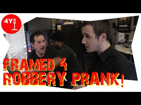 Framed For Robbery Prank!