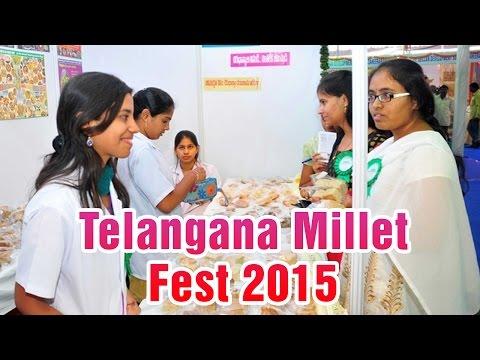 Telangana Millet Fest 2015  Necklace road Hyderabad 01032015