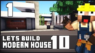 Minecraft Lets Build: Modern House 10 - Part 1