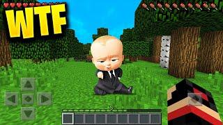 I FOUND BABY BOSS in Minecraft Pocket Edition