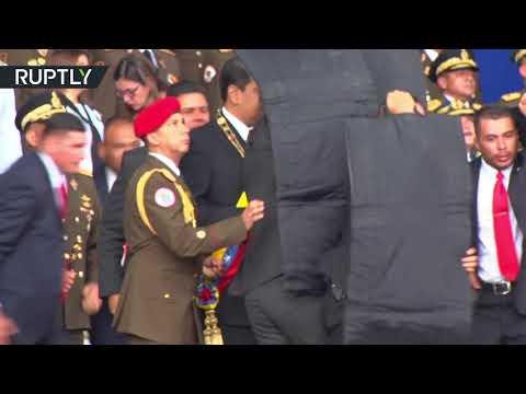 فيديو .. لحظة محاولة اغتيال رئيس فنزويلا نيكولاس مادورو