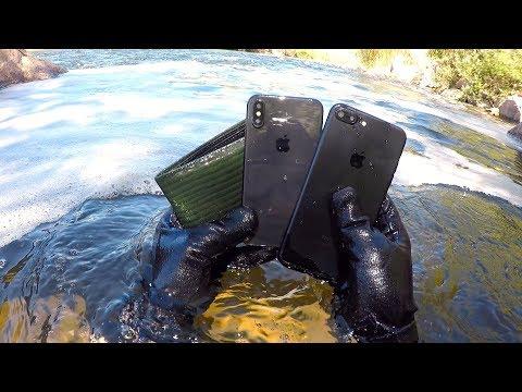 Tôi tìm thấy 1 cái iPhone X,iphone 7 và 1 cái ví tiền dưới sông (Kho báu dòng sông - Thời lượng: 6:58.
