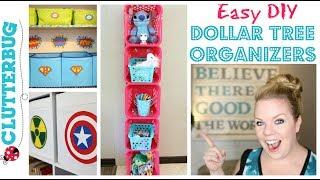 Easy DIY Dollar Tree Organizer - How to make a Storage Shelf