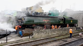 Swanage Strictly Bulleid Gala Sunday 2nd April 2017 Five Working Light Pacifics