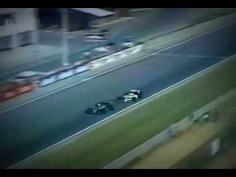 piquet vs senna - overtaking with drift grand prix of hungary 1986