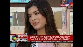 Video Pagkatalo ni Bb. Pilipinas-International Mariel de Leon, ikinatuwa raw ni Mayor Sara Duterte MP3, 3GP, MP4, WEBM, AVI, FLV Agustus 2018