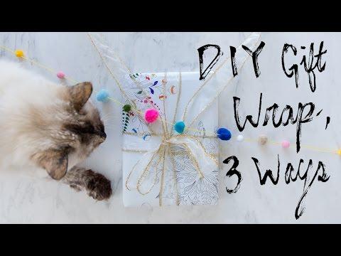 DIY Printable Gift Wrap, 3 Ways
