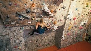 Adventure Up North In Sweden - Cool Climbing Wall - Matilda, Alex And Eric by Eric Karlsson Bouldering