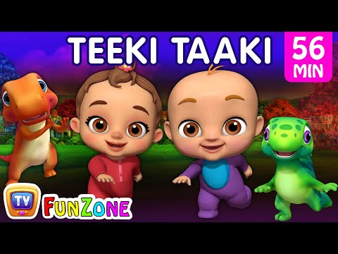 Teeki Taaki Action Song | Popular 3D Nursery Rhymes & Baby Songs for Babies | ChuChu TV Funzone
