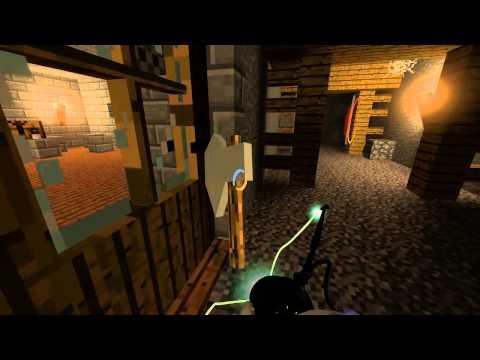 Portal 2 - Minecraft в Portal 2 #2 [Карта]