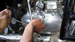 7. Engine oil change in Royal enfield Classic bullet , oil filter replaicing, suction filter cleaning