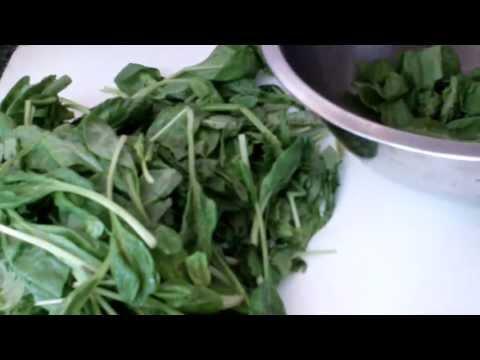 Caribbean Recipe: How to Make Spinach (Bhaji) and Shrimp