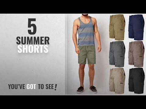 Top 10 Summer Shorts [2018]: MENS PLAIN SHORTS CARGO COMBAT CASUAL SUMMER BEACH COTTON 7 POCKETS