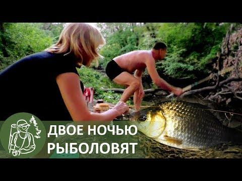 Жизнь в лесу. Двое на ночной рыбалке