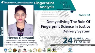 Demystifying the Role of Fingerprint Science in Justice Delivery System