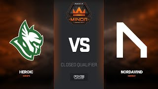 Heroic vs Nordavind, map 1 train, Europe Minor Closed Qualifier – FACEIT Major 2018