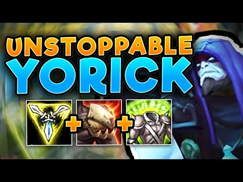 WTF?? WHY CAN YORICK DO THIS MUCH DAMAGE? YORICK TOP GAMEPLAY SEASON 7! - League Of Legends Gameplay