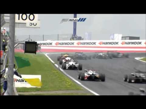 European Formula 3 2014. Red Bull Ring. Esteban Ocon crashed again at first corner