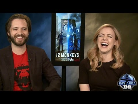 "HILARIOUS | 12 MONKEYS | SEASON 2 | INTERVIEW | AMANDA SCHULL | AARON STANFORD | ""MONKEY-WED"" GAME"