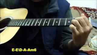 How to play Nazareth `Guilty `ac.guitar .Key E