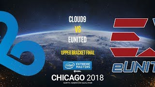 Cloud9 vs eUnited - IEM Chicago 2018 NA Quals - map1 - de_overpass [Anishared ]
