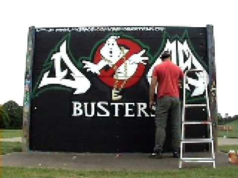 Graffiti Art London Ghostbusters Mural
