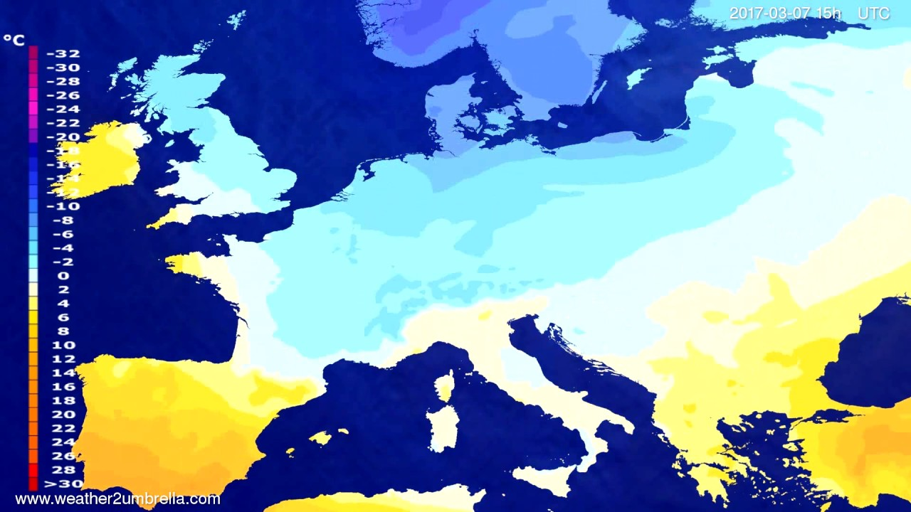 Temperature forecast Europe 2017-03-05
