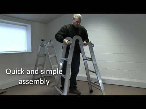 multi purpose ladders - Introducing the revolutionary new Multi-position Mighty Ladder from Rhino Ladders. This amazing product can be used in 4 different configurations. Its an ext...