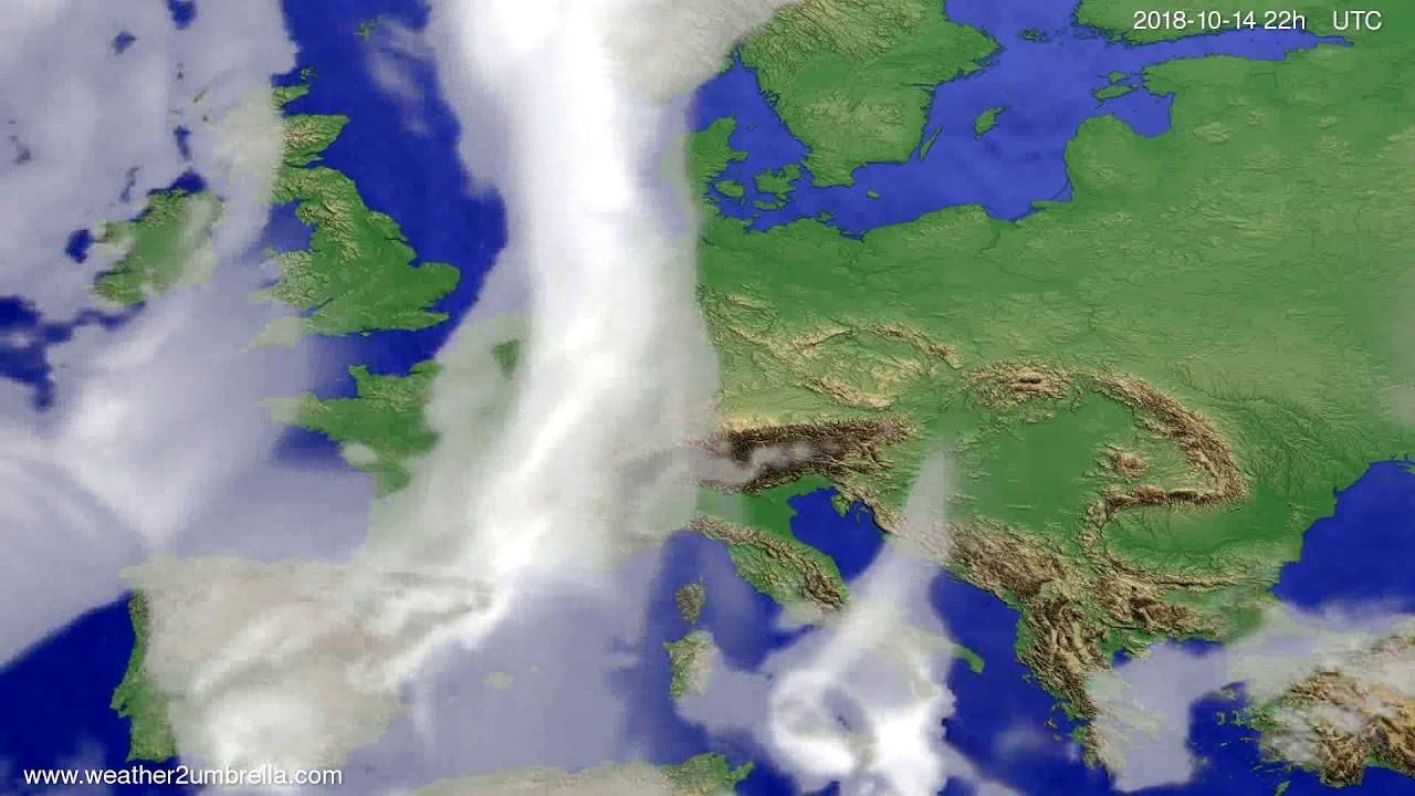 Cloud forecast Europe 2018-10-12